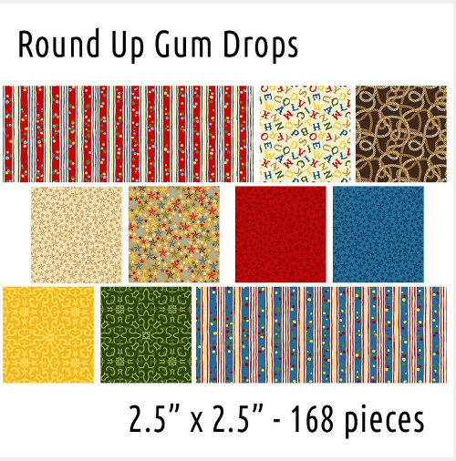 River's Bend - Round Up Gum Drops 168pcs 2.5 squares