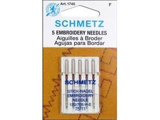 Schmetz Embroidery Machine Needle Size 11/75