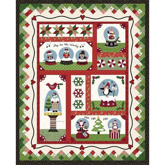 Snow Globe Village Quilt Kit 54 x 66.75