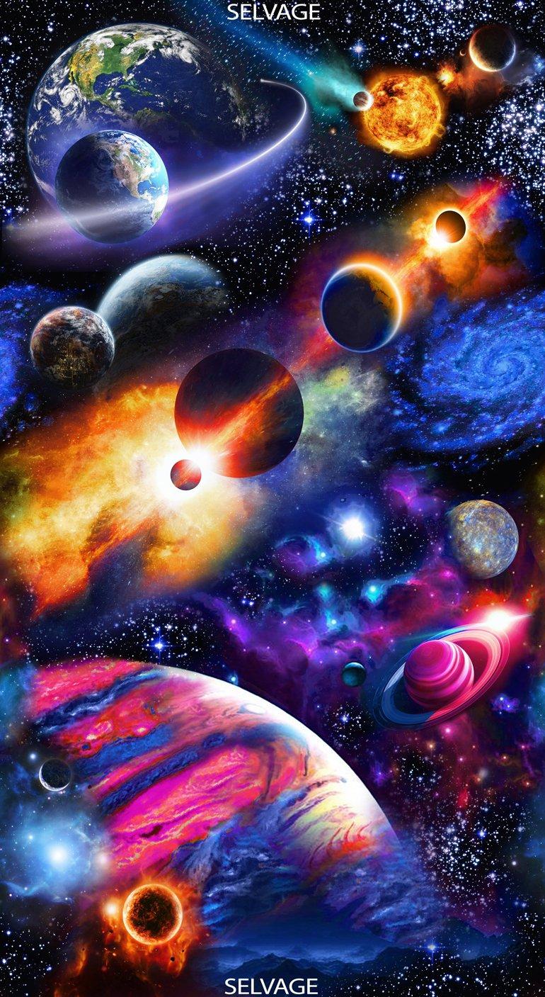 Space - Bright Solar System Panel #220 Midnight C6660