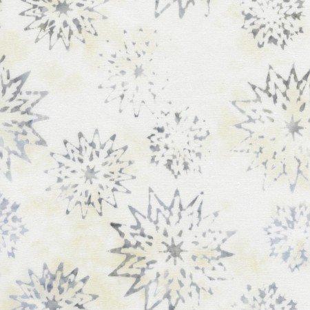 Tonga Rose Batik - B4007 Snowflake Mix Ivory