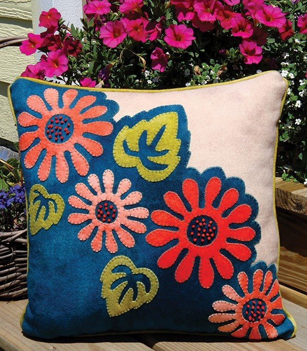 Pop Art Posies Pillow Pattern