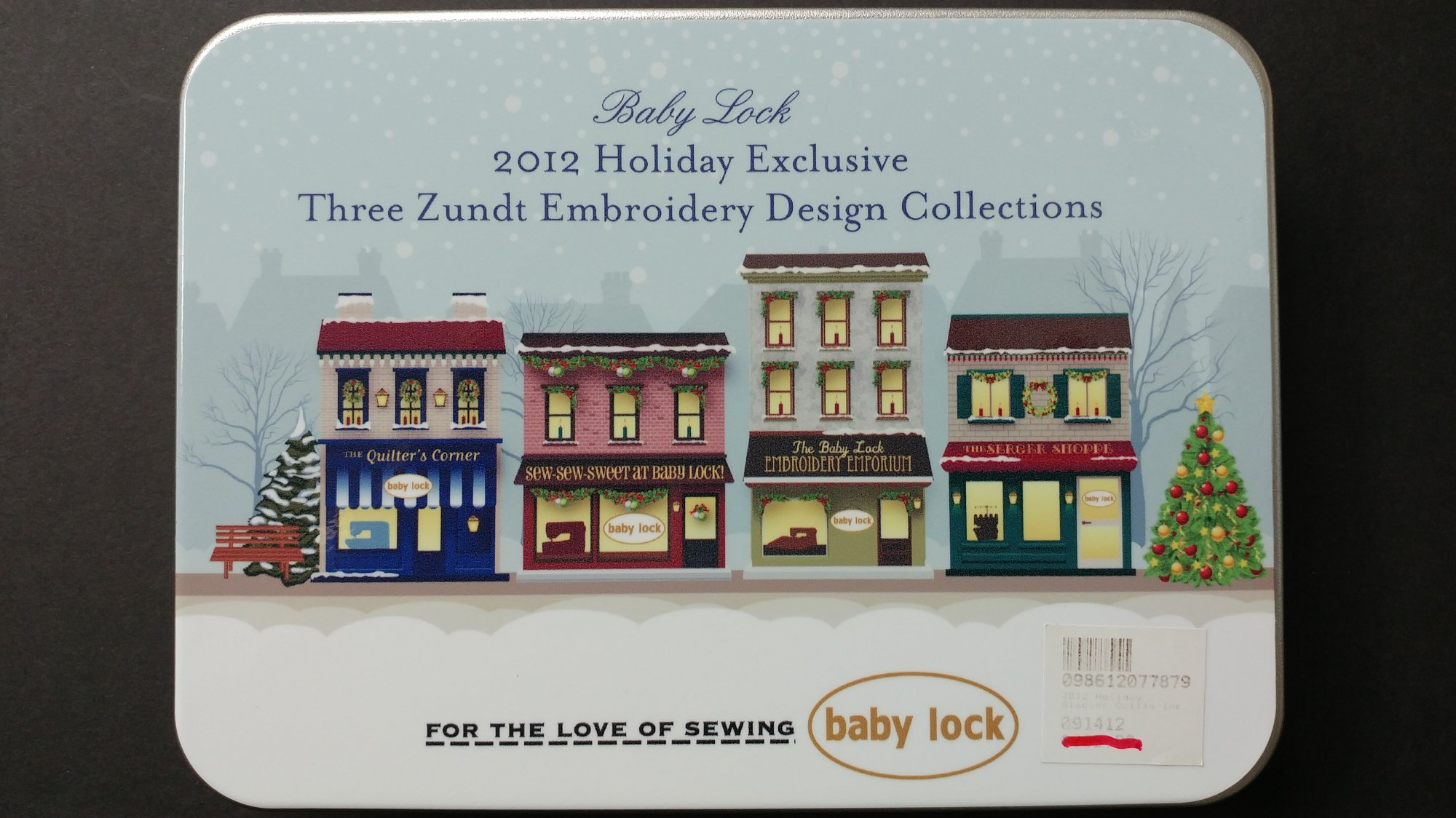 2012 Holiday Exclusive - 3 Zundt Embroidery Design Collection