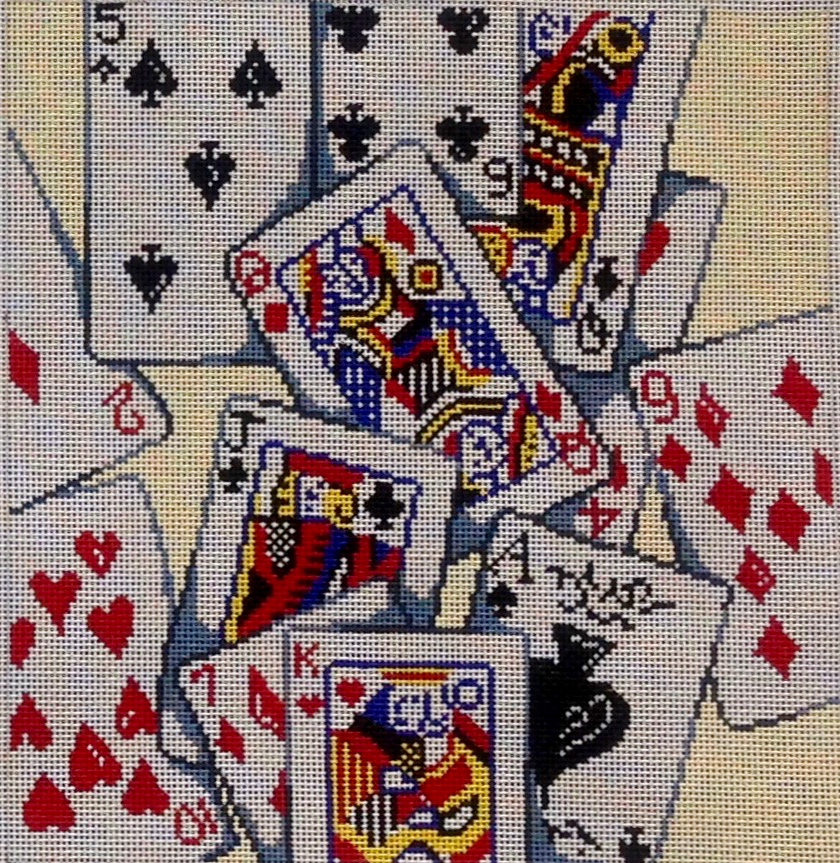 PM8290 Playing Cards Tossed