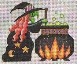 741A Witch w/Cauldron