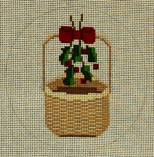 MBM-XO2 ACK Basket Holly Ornament