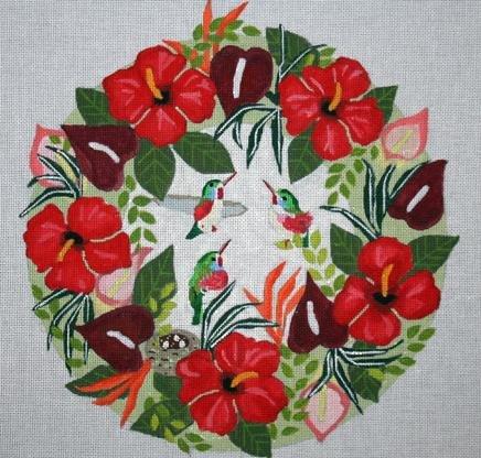 MPB378 Wreath Tropical Hummingbirds