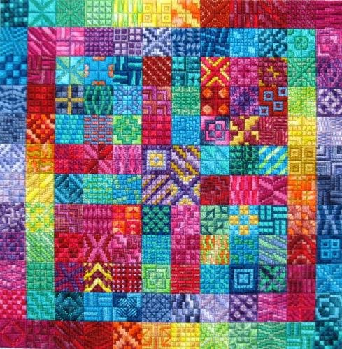 Amazing Color Charted Needlepoint Design Needle Delights