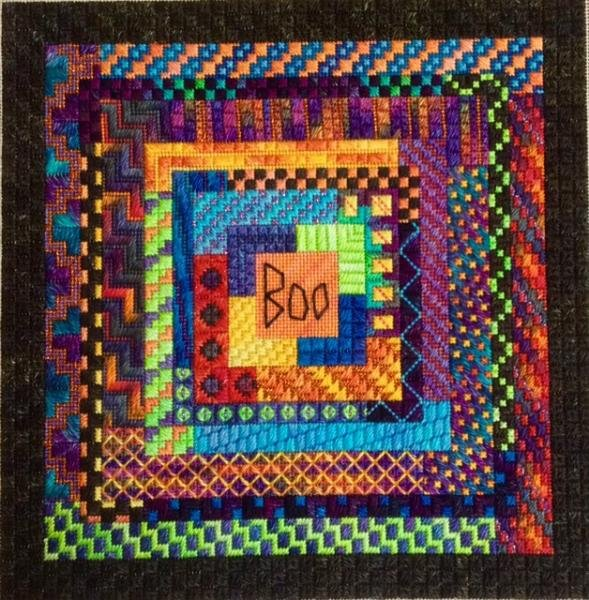 Boo Logs Charted Needlepoint Design