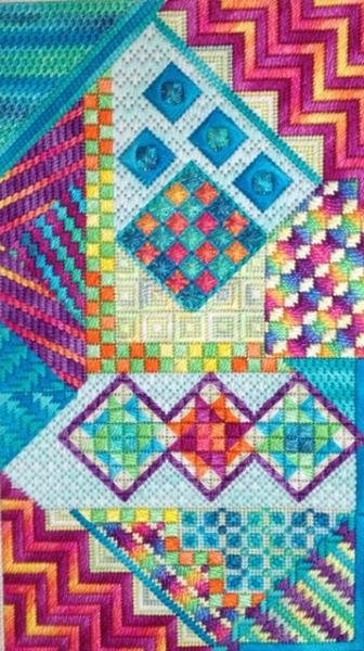 Bora Bora Charted Needlepoint Design