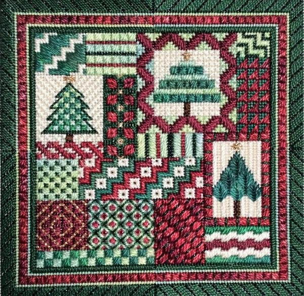 Christmas Holiday Delights Charted Needlepoint Design