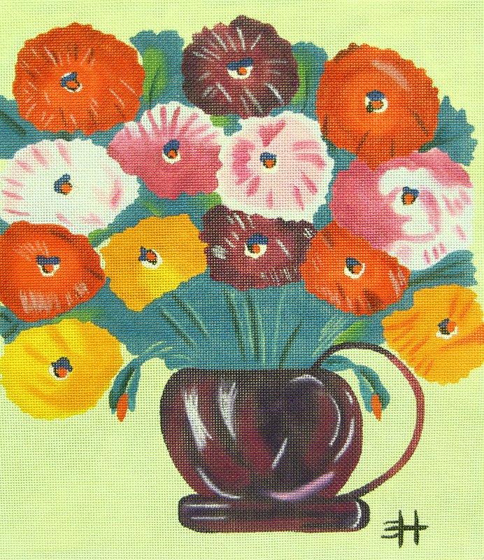 Zinneas Purple Pot