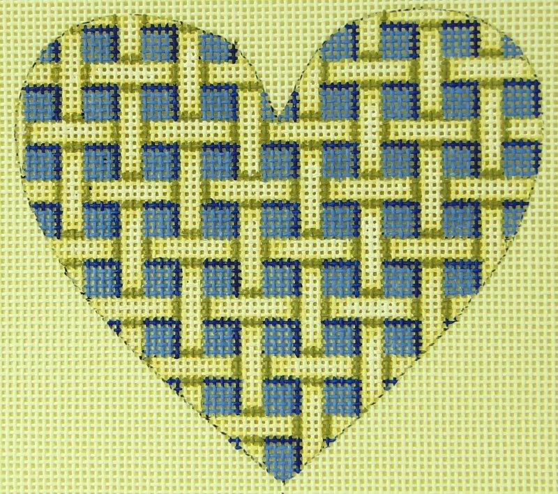 AWP413B Heart Blue Weave