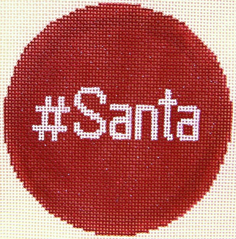 XO282 Hashtag Round Santa