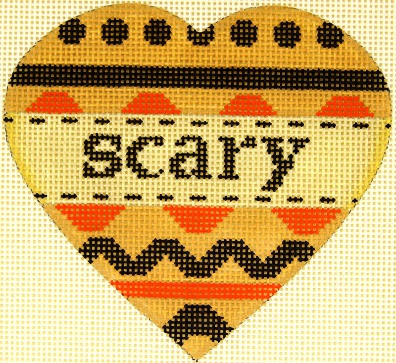 MS1942G Pumpkin Heart Scary