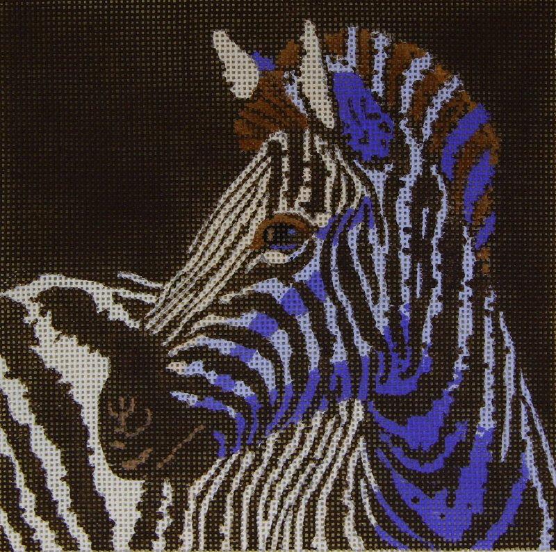117 Zebra with Blue