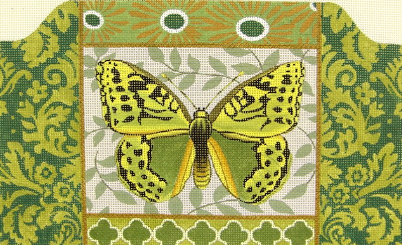 MS1363C Butterfly Green Purse