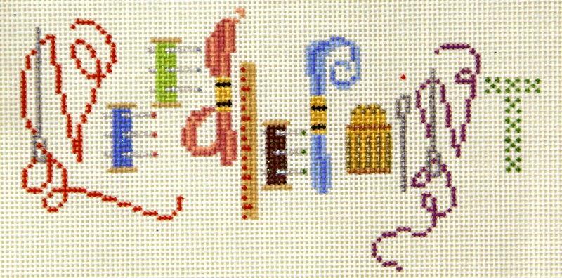 Needlepoint bag w/beads
