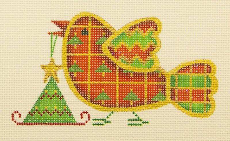 ACOD3073 Bird Christmas Plaid