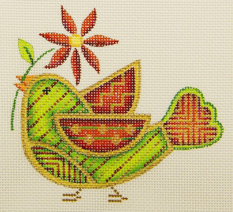ACOD3074 Bird Christmas Poinseitta