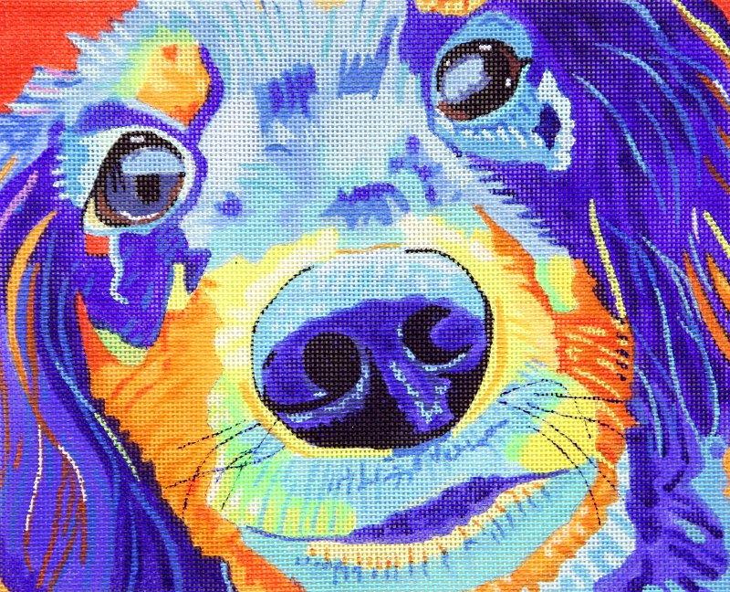 601 Rowdy Pup Colorful Closeup