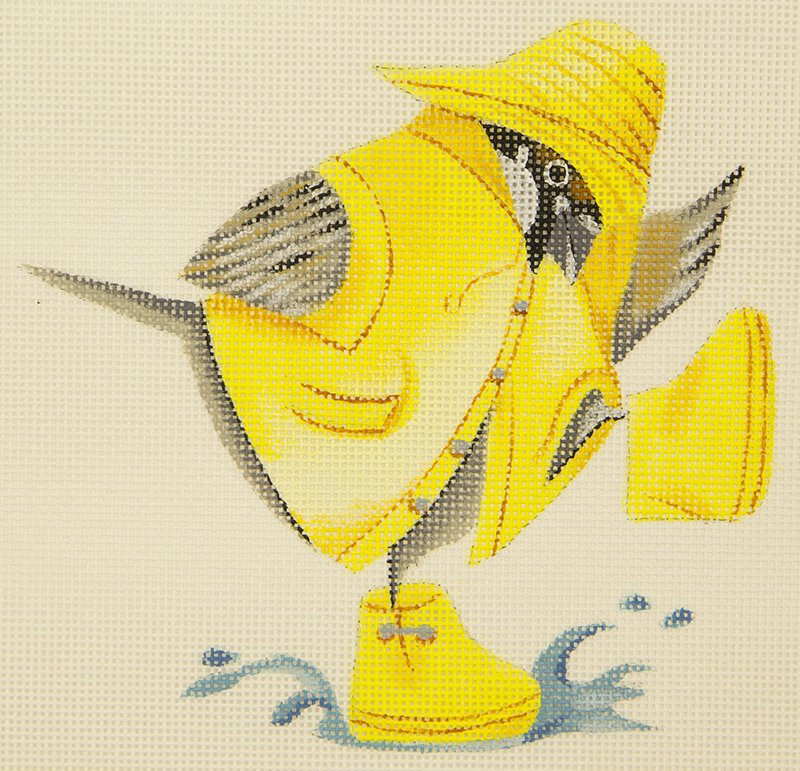 ET015 Splashing Bird HSN Needlepoint