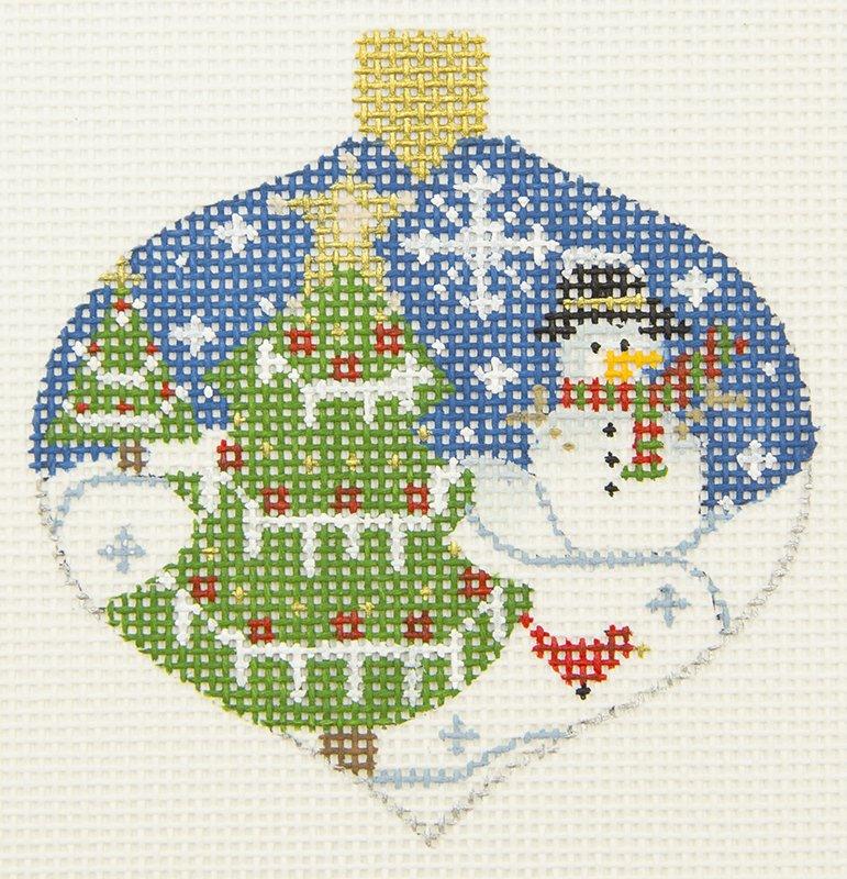 OT02 Tree Snowman Ogee