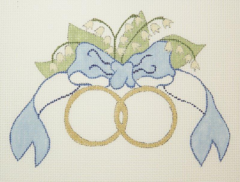 C204 Wedding Rings Blue Bow