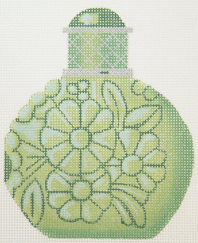 LL150K Perfume Bottle Green Flowers