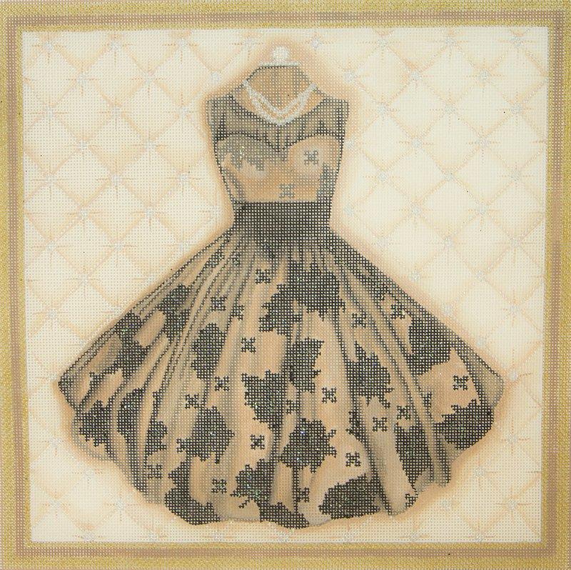 PD3A Black and Beige Dress