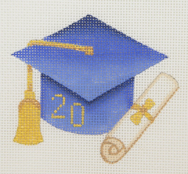 BB1336 Graduation Cap Blue with Year