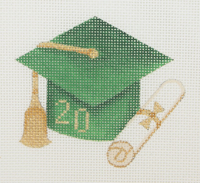BB1337 Graduation Cap Green with Year