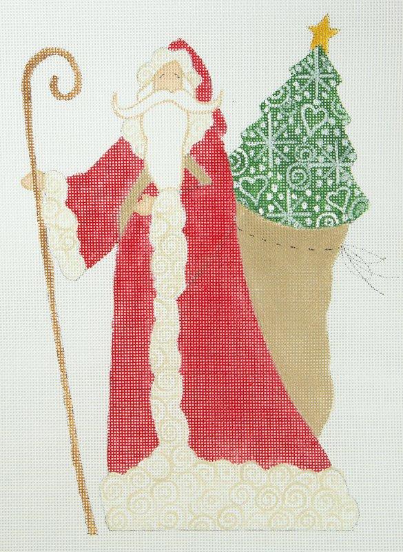 CB Santa with Christmas Tree Sack