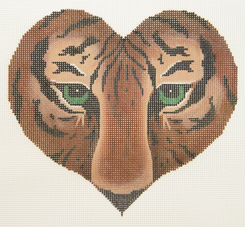 JP Heart with Tiger Eyes