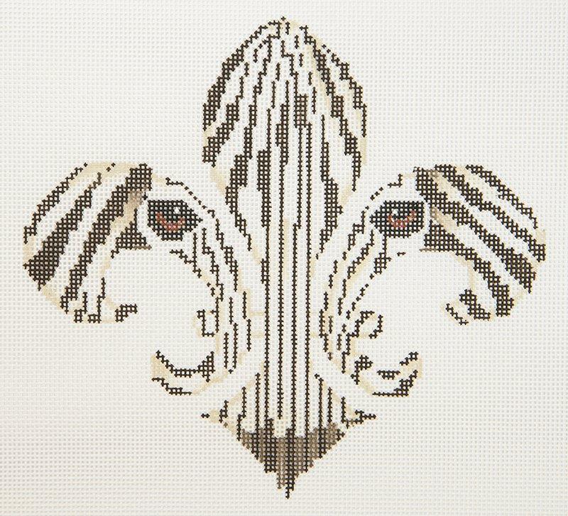 JP Fleur de Lis Zebra