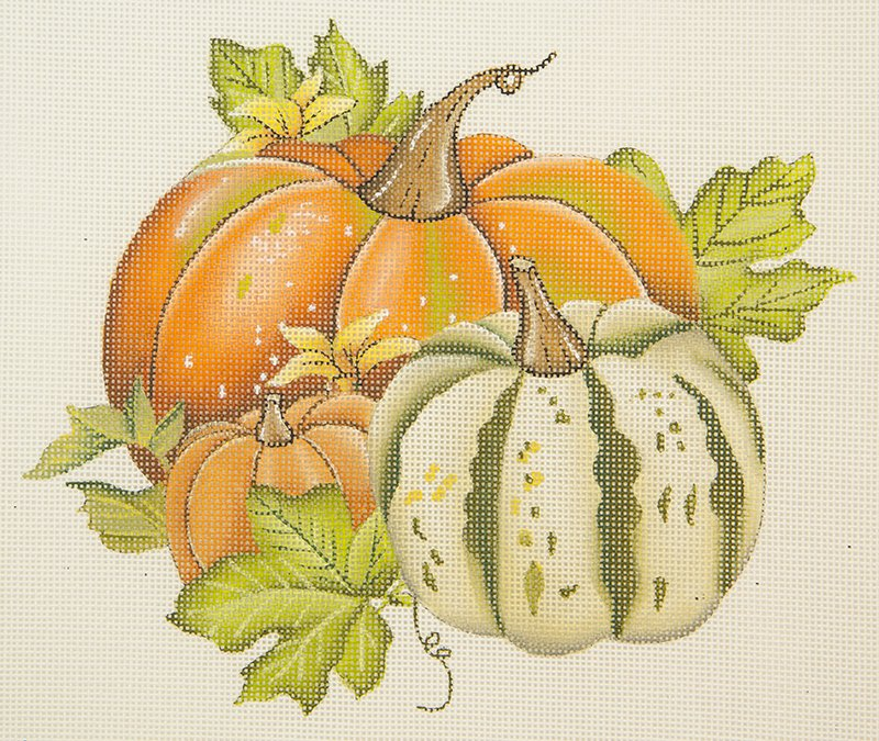 MLT383 Three Vintage Pumpkins
