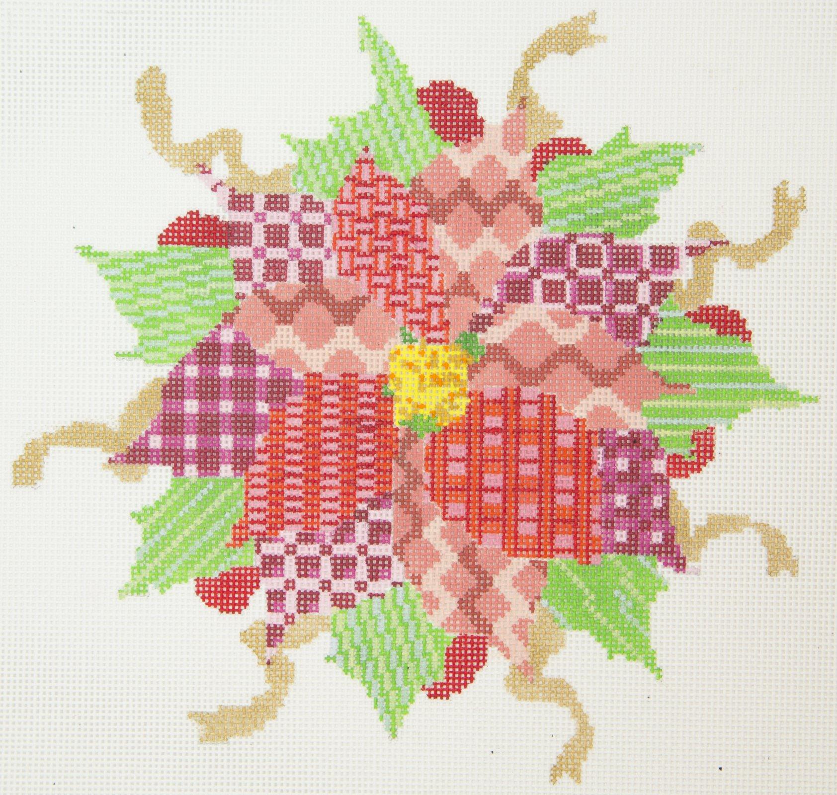 PATT241C  Poinsettia Abstract 13 Mesh