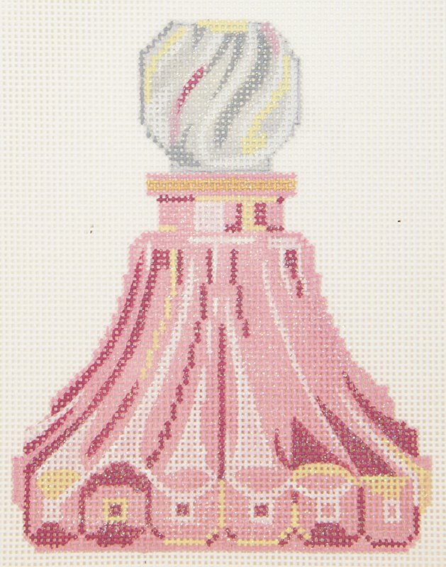 LL150R Pink Fluted Perfume Bottle