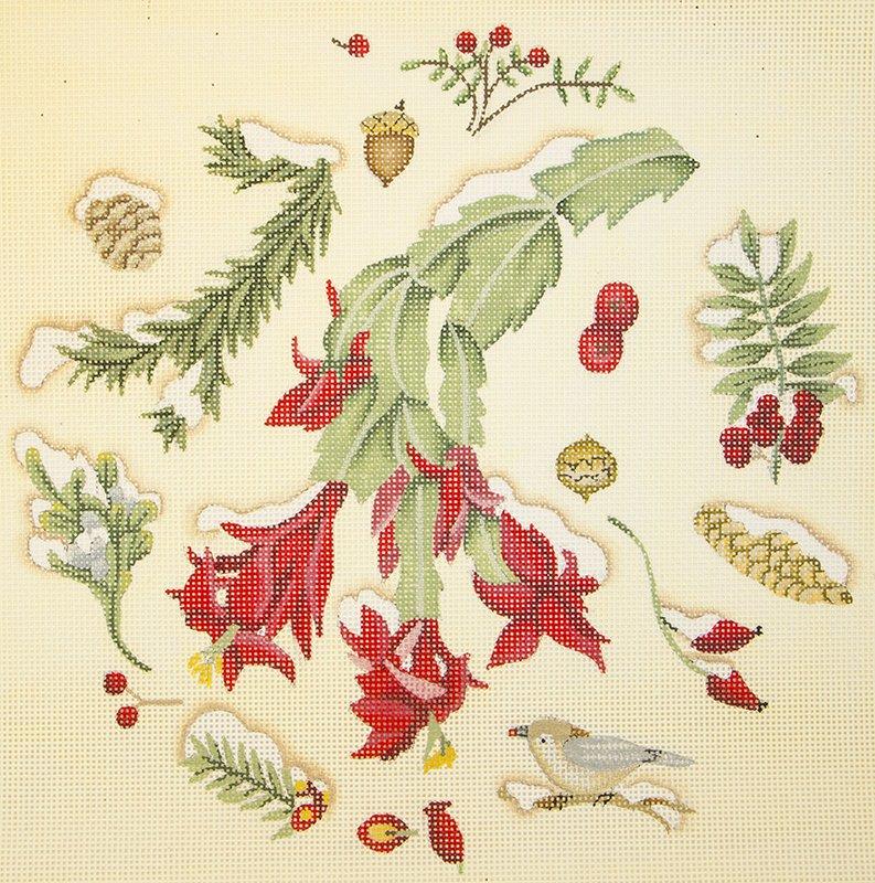 DM159B Botanical Christmas Cactus
