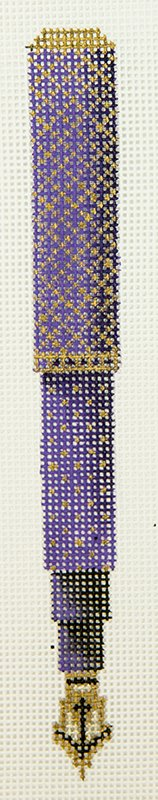 GS434 Pen Purple with Gold Dots