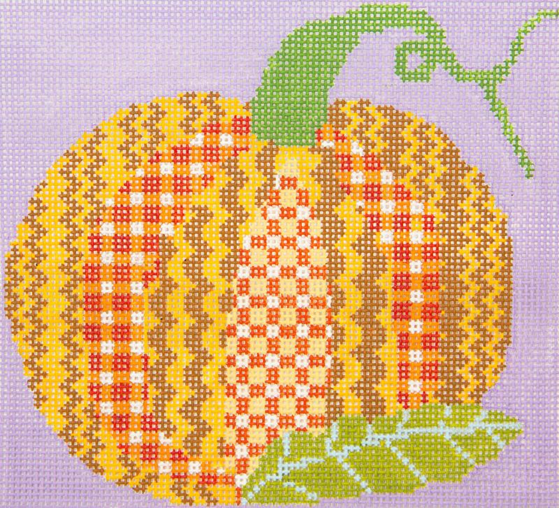 PATT283C Patchwork Pumpkin