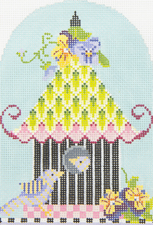KBH05 Pansy Pagoda Birdhouse Kelly Clark