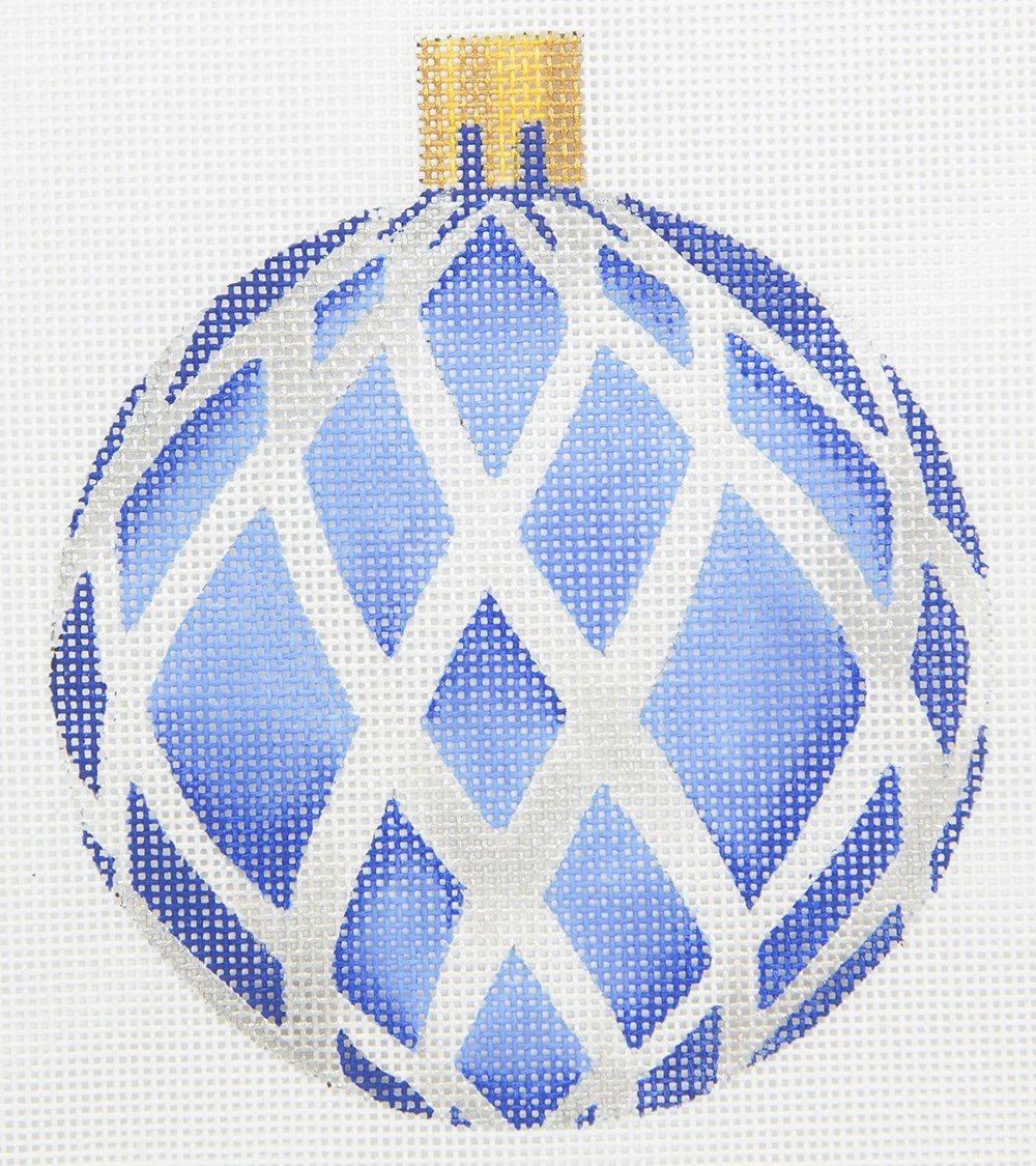CH303A Blue and Silver Ornament The Collection