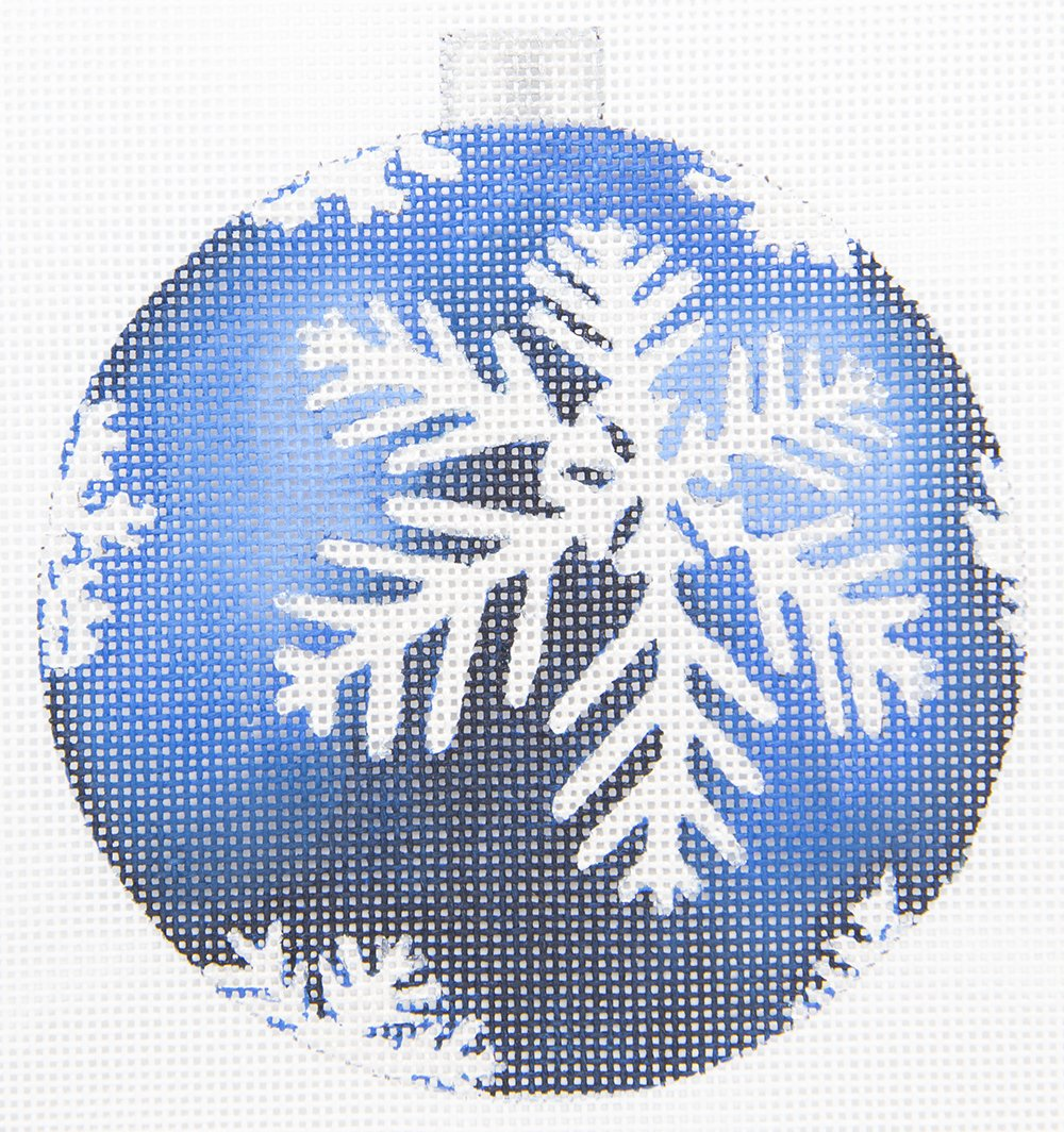 CH303E Blue and Silver Snowflake Ornament The Collection