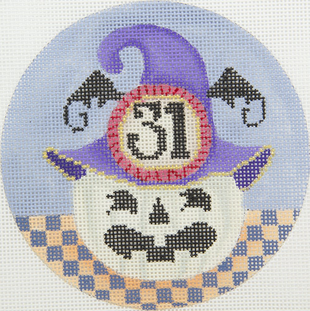 B348E Spooky Pumpkin Ornament Brenda Stofft