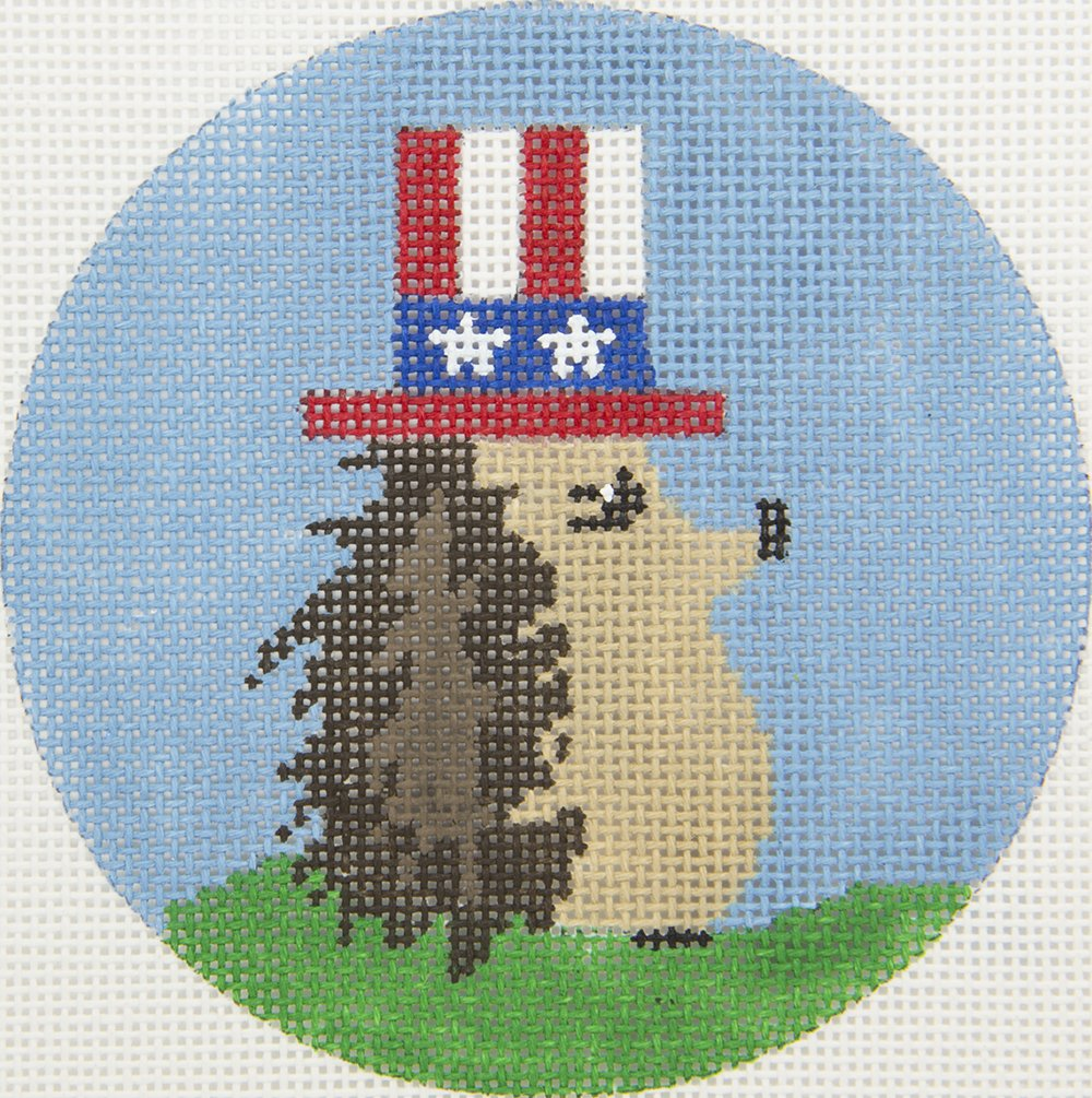 ZIA102 4th of July Hedgehog Danji Designs