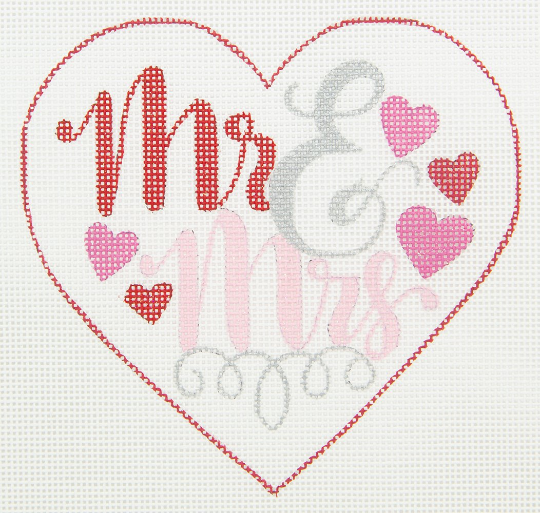 APWE04 Mr and Mrs Heart Ornament Walker's Wholesale