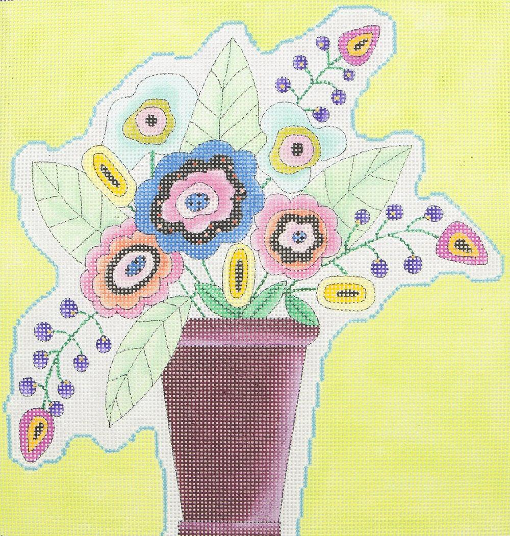 IHR108B Multicolor Flowers in Pot