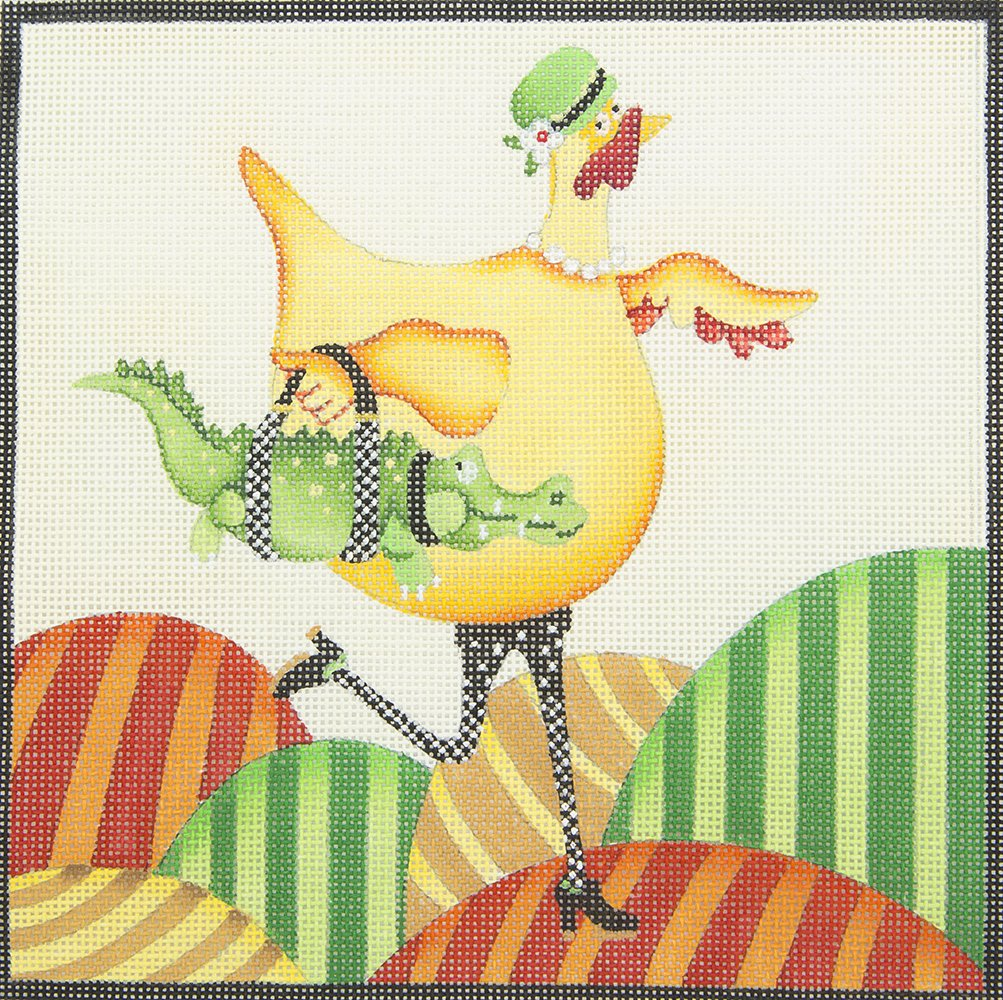 DH04 Chicken Carrying Alligator Purse Strictly Christmas