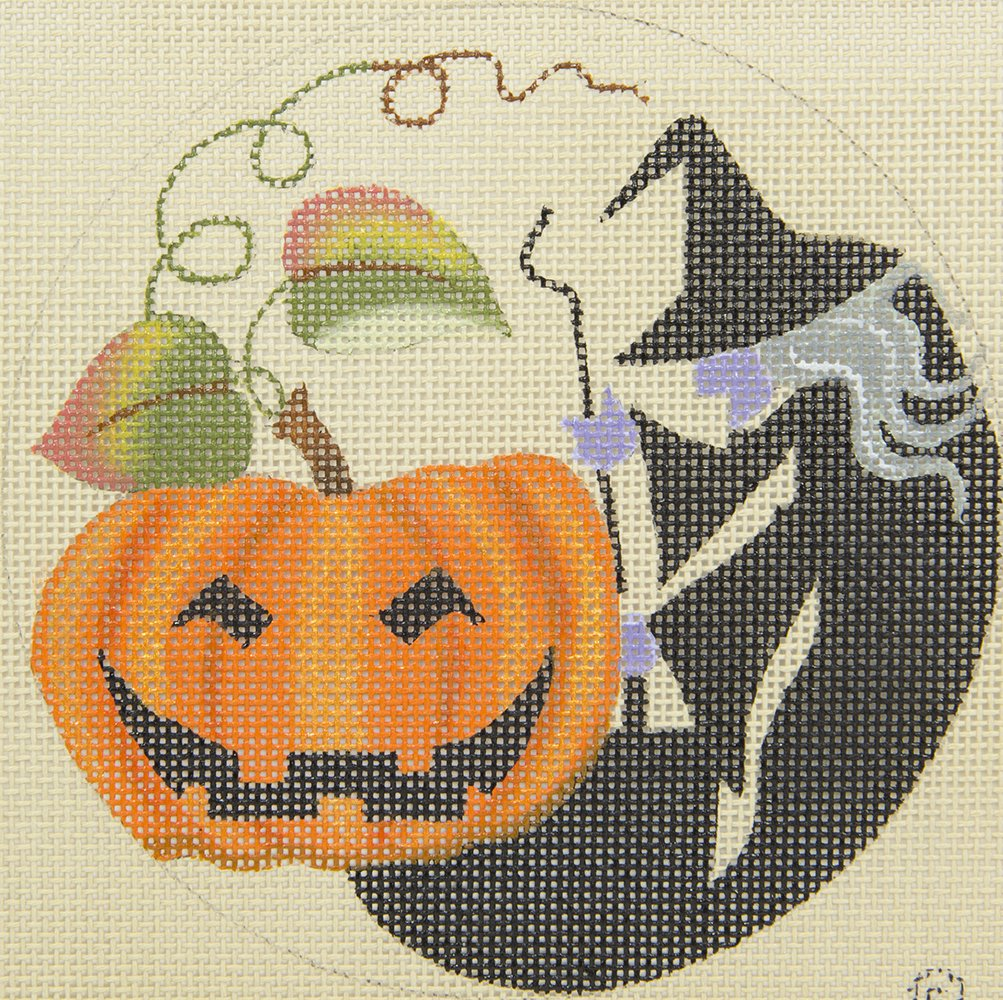 7804 Witch and Pumpkin with Stitch Guide Leigh Designs